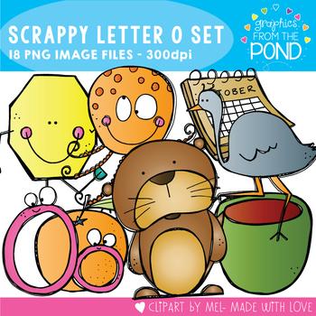 Scrappy Letter O Clipart