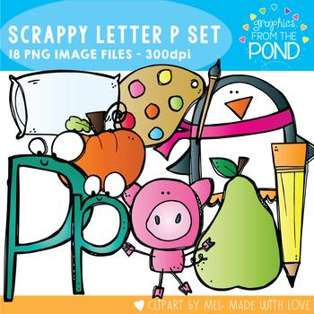 Scrappy Letter P Clipart