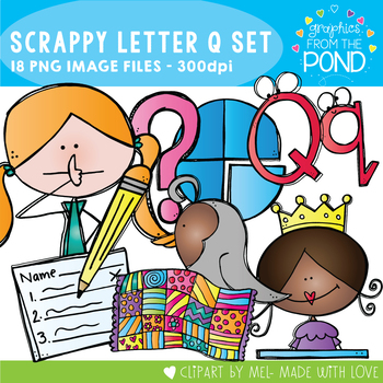 Scrappy Letter Q Clipart