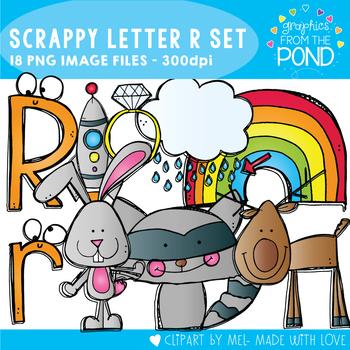 Scrappy Letter R Clipart