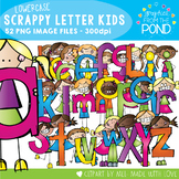 Scrappy Letters of the Alphabet Kids Clipart - Graphics From the Pond