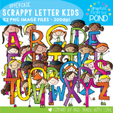 Scrappy Letters of the Alphabet Kids - Upper Case