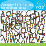 Scrappy Little Letters Clipart Set