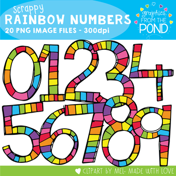 Scrappy Rainbow Numbers