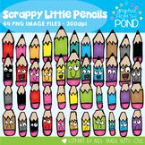 Scrappy Little Pencils Clipart Super Set