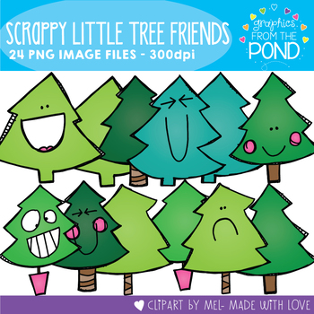 Scrappy Little Tree Friends Clipart Set