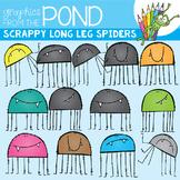 Scrappy Long Leg Spider Clipart