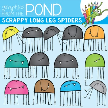 Scrappy Long Leg Spider Clipart