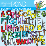 Scrappy Love Alphabet {Clipart}
