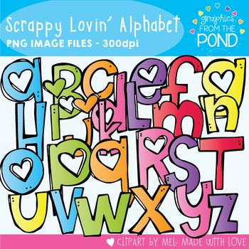 Scrappy Lovin Alphabet