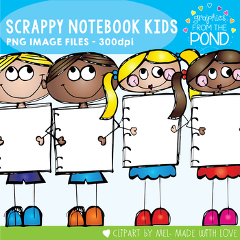 Scrappy Notebook Kids - Clipart for Teaching Resources!