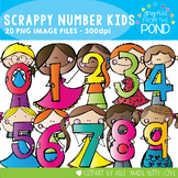 Scrappy Number Kids - Clipart for Teachers and Teaching
