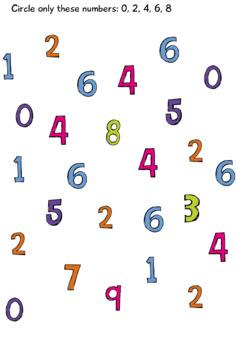 Scrappy Numbers Worksheets; Kindergarten; Preschool; Homeschool; Math