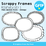 Scrappy Round Frames Set #1 {Clipart}