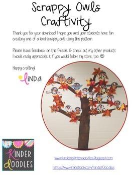 Scrappy Owl Craftivity Freebie
