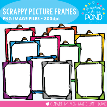 Scrappy Picture Frames - Clipart For Teaching