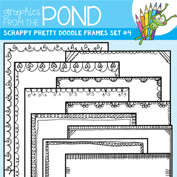 Scrappy Pretty Doodle Frames Set 4