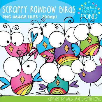 Scrappy Rainbow Birds