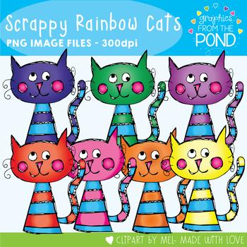 Scrappy Rainbow Cats