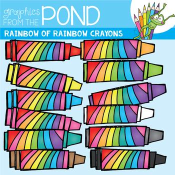 Scrappy Rainbow of Rainbow Crayons Clipart