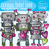 Scrappy Robot Love - Clipart Set for Teachers