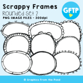 Scrappy Round Frames Set #2 {Clipart}