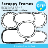 Scrappy Round Frames Set #3 {Clipart}