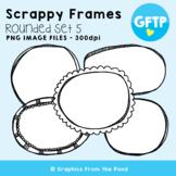 Scrappy Round Frames Set #5 {Clipart}