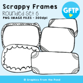 Scrappy Round Frames Set #6 {Clipart}