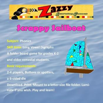 Scrappy Sailboat Folder Game Long Vowel Digraphs