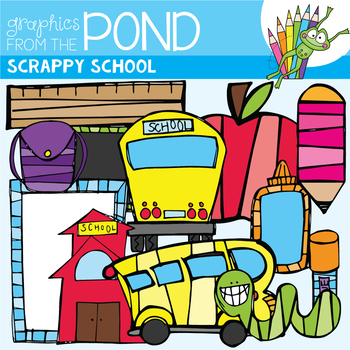 Scrappy School Clipart