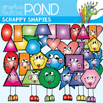 2D Shapes Clipart - Scrappy Shapies