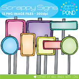Scrappy Signs {Clipart for Teachers}
