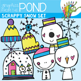 Scrappy Snow Set {Clipart}