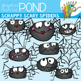 Scrappy Spiders and Webs -  Clipart for Teachers