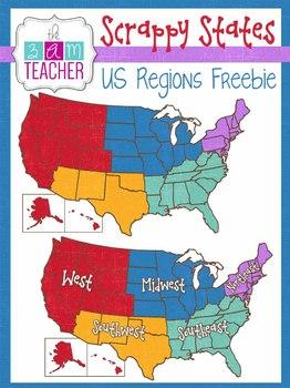 Scrappy States: US Regions Freebie