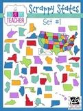 Scrappy States: Unites States Clip Art Set #1