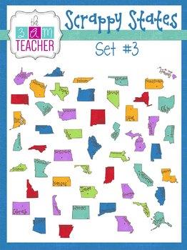 Scrappy States: Unites States Clip Art Set #3