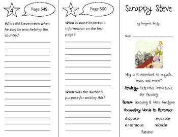 Scrappy Steve Trifold - 3rd Grade Literacy by Design Theme 16