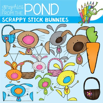 Scrappy Stick Bunnies