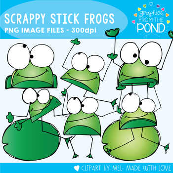 Scrappy Stick Frog Clipart