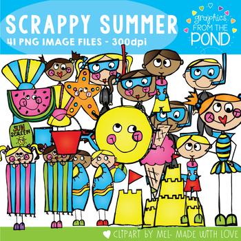 Scrappy Summer Set - Clip Art