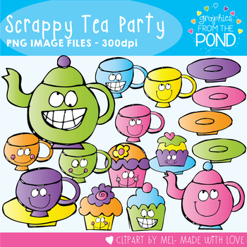 Scrappy Tea Party - Clipart for Teachers and Teaching