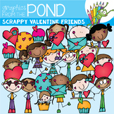 Scrappy Valentine Friends Clipart