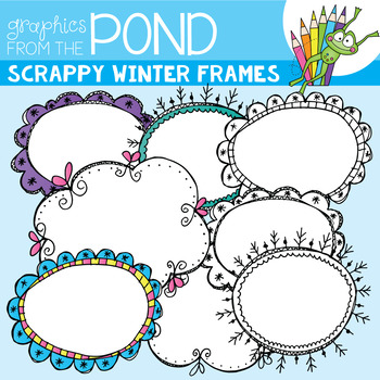 Scrappy Winter Frames {Clipart}