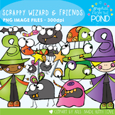 Scrappy Wizard and Friends Clipart
