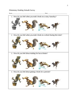 Scrat Elementary Reading Attitude Survey