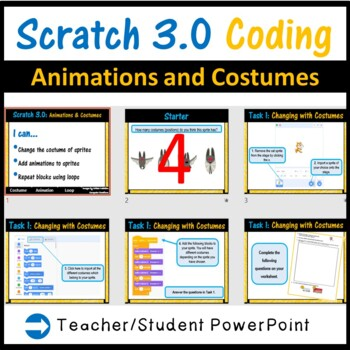 Scratch 2.0 Programming - Animations & Costumes Lesson (Updated 2018)