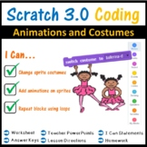 Scratch Coding Programming - Animations & Costumes Lesson (Scratch 3.0)