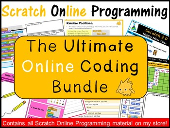 Scratch 2.0 Programming Coding: The Ultimate Online Lesson Plans Bundle–Save $10